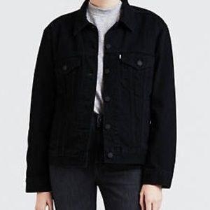 black levis boyfriend denim trucker jacket